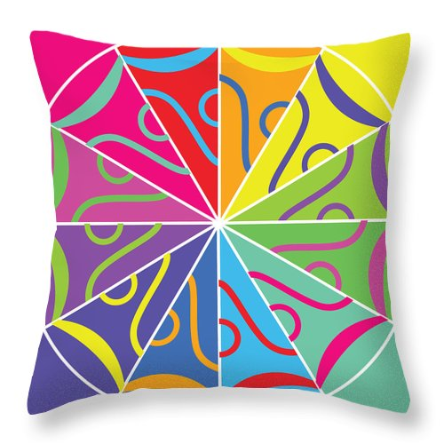 A Rainbow Artwork - Throw Pillow - Designs by ndiso