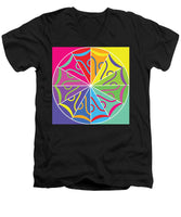 A Rainbow Artwork - Men's V-Neck T-Shirt - Designs by ndiso
