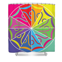 A Rainbow Artwork - Shower Curtain - Designs by ndiso