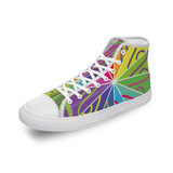 [Mirror Effect] Customizable Comfortable Canvas High Top Shoes for Men Women - Designs by ndiso