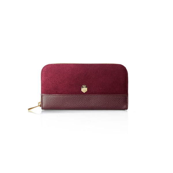 The Salisbury Purse - Oxblood - Ladies Gifts £50 to £200 - Fairfax & Favor