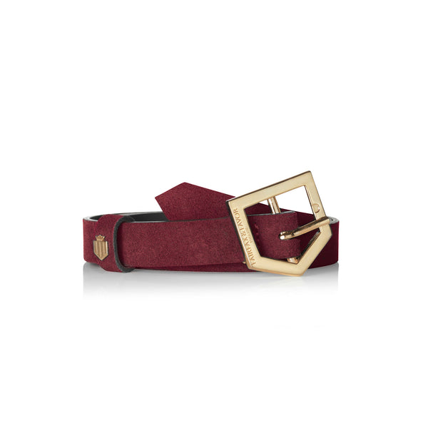The Sennowe Belt - Oxblood - Ladies Gifts £50 to £200 - Fairfax & Favor