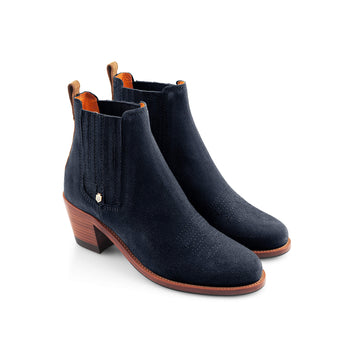 The Rockingham Ankle Boot - Tan & Navy