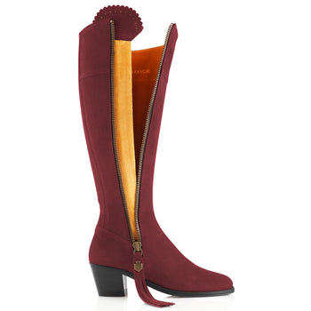 The Heeled Regina (Oxblood) - Suede Boot