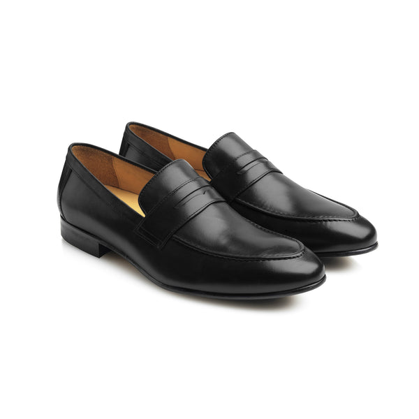 The Balmoral - Black Leather - Mens: A Day at the Races - Fairfax & Favor