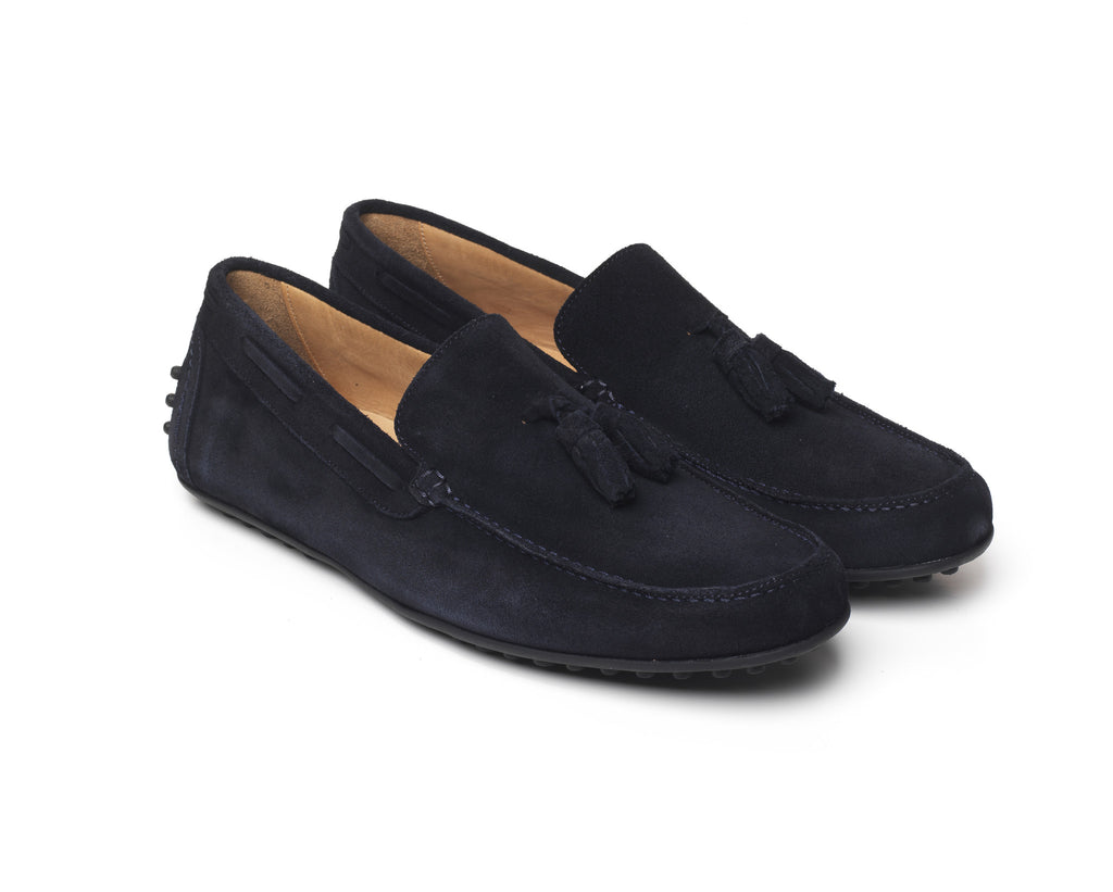 Mens Driver - Navy Blue-Driving shoes-FAIRFAX & FAVOR-FAIRFAX AND FAVOR