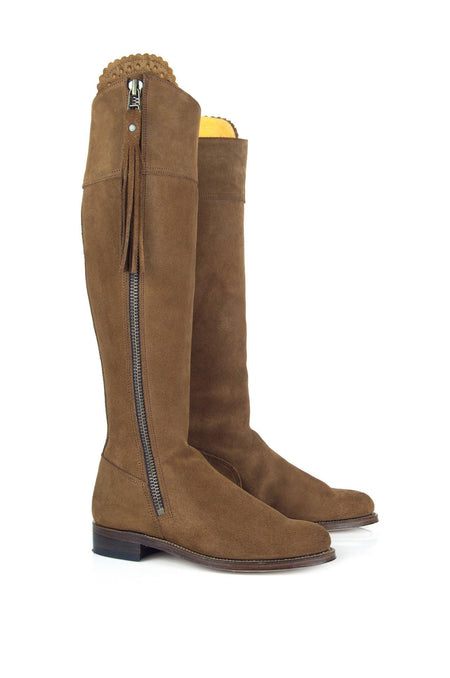 Classic (No Elastic) The Regina Tan - Suede Boot - Womens Sale - Fairfax & Favor