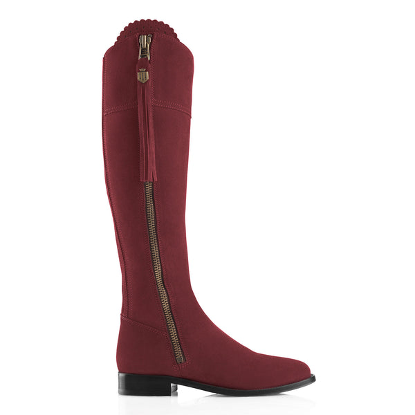 The Regina (Oxblood) - Suede Boot - Race Day Ready - Fairfax & Favor