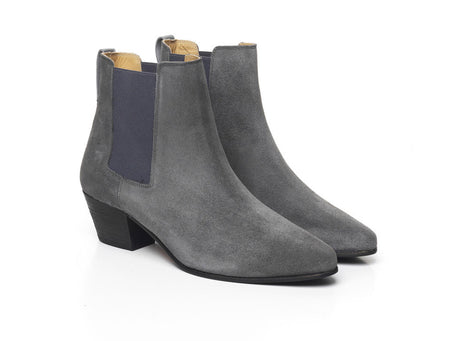 The Athena - Grey - Womens Ankle Boots - Fairfax & Favor