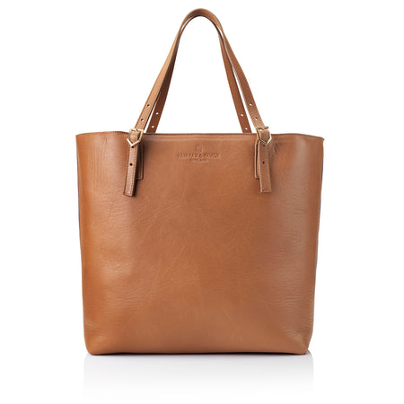 The Hurlingham Tote - Tan - HANDBAGS - Fairfax & Favor