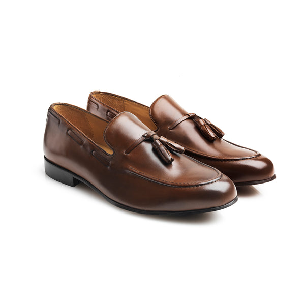 The Bedingfeld - Brown Leather - Mens: A Day at the Races - Fairfax & Favor