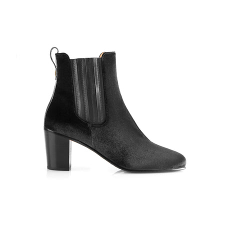 The Electra Boot - Black Velvet - New Arrivals - Fairfax & Favor
