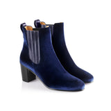The Electra Boot Royal Blue Velvet Fairfax and Favor 2