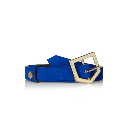 The Sennowe Belt - Porto Blue - Embossing - Fairfax & Favor