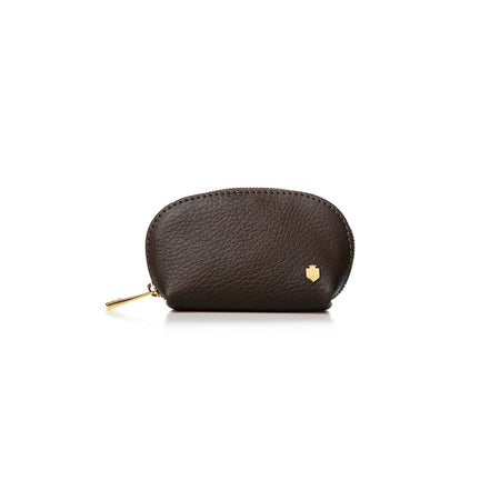 The Chatham Coin Purse - Chocolate - Embossing - Fairfax & Favor