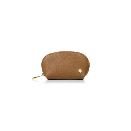 The Chatham Coin Purse - Tan - Embossing - Fairfax & Favor