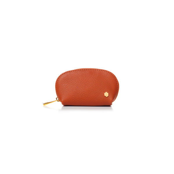 The Chatham Coin Purse - Tangerine - Purses - Fairfax & Favor
