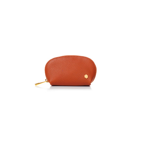 The Chatham Coin Purse - Tangerine - Embossing - Fairfax & Favor