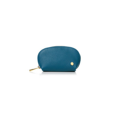 The Chatham Coin Purse - Teal - Embossing - Fairfax & Favor