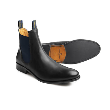 The Chelsea Full Grain Leather (Black)-Chelsea Boot-FAIRFAX & FAVOR-FAIRFAX AND FAVOR