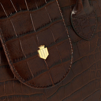 The Langley - Chocolate Croc Print