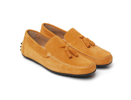 Mens Driver - Orange - Shoes - Fairfax & Favor