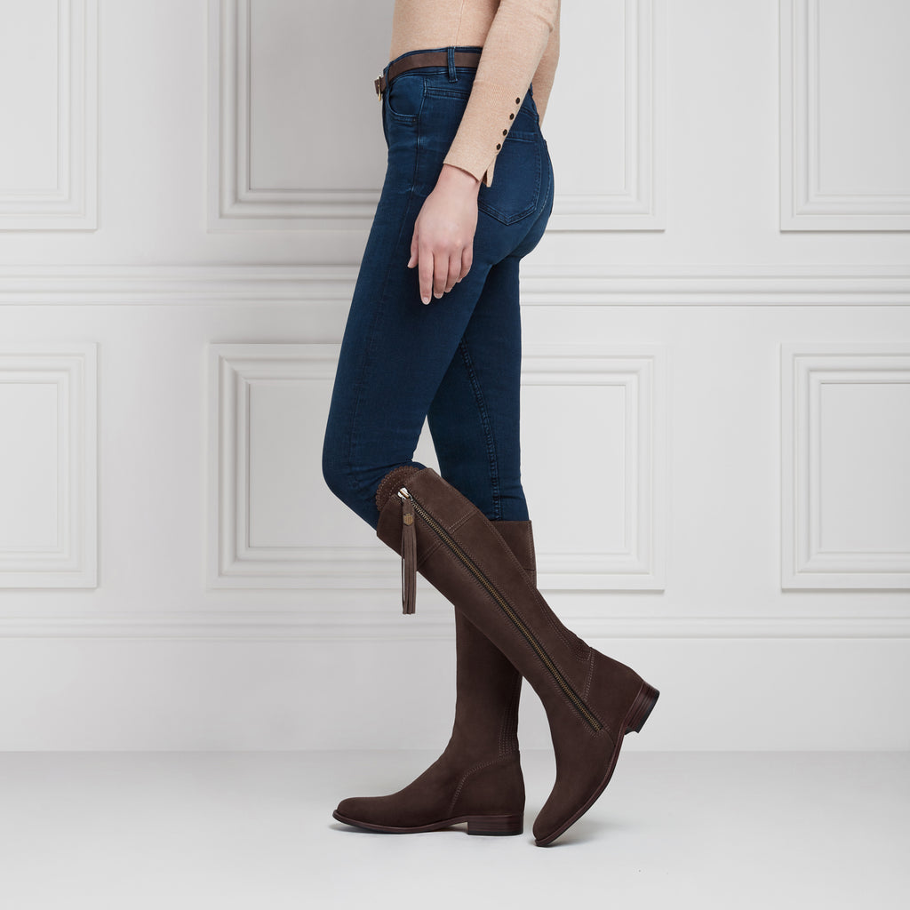 The Regina (Chocolate) - Suede Boot