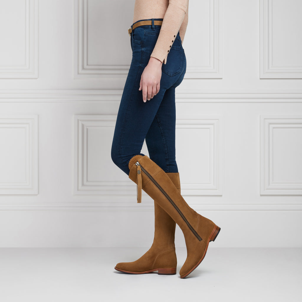 The Regina (Tan) - Suede Boot