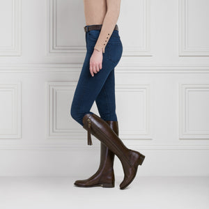 The Regina (Mahogany Leather) - Leather Boot