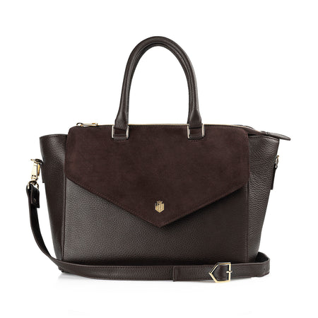 The Dorchester Handbag - Chocolate - HANDBAGS - Fairfax & Favor