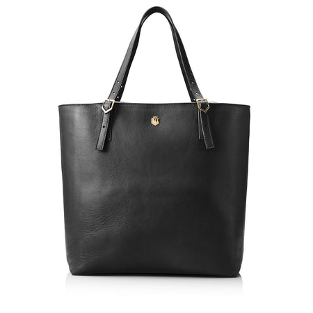 The Hurlingham Tote - Black - HANDBAGS - Fairfax & Favor