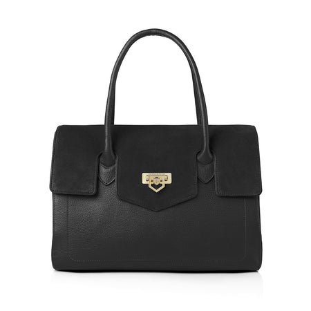The Loxley Shoulder Bag Black - HANDBAGS - Fairfax & Favor