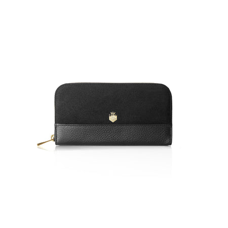 The Salisbury Purse - Black - Embossing - Fairfax & Favor
