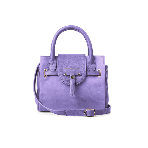 The Mini Windsor Handbag - Lilac - Embossing - Fairfax & Favor