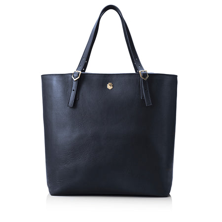The Hurlingham Tote - Navy - HANDBAGS - Fairfax & Favor