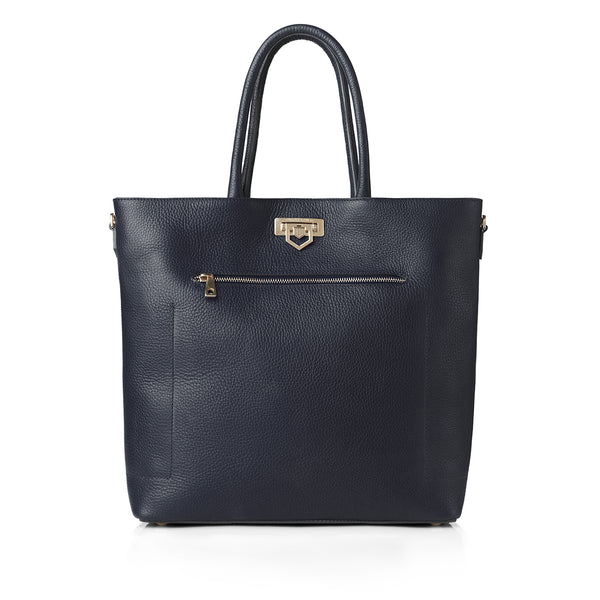 The Loxley Tote Bag - Navy Leather - HANDBAGS - Fairfax & Favor