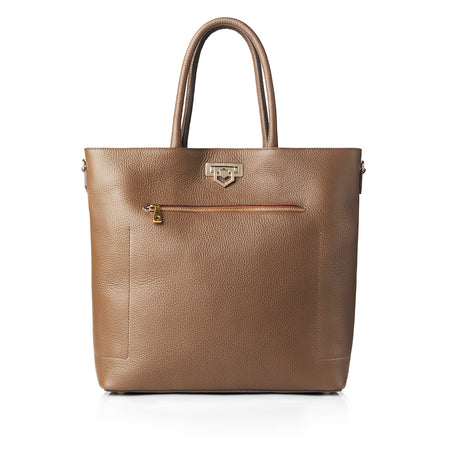 Loxley Tote Bag - Tan Leather - HANDBAGS - Fairfax & Favor
