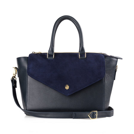 The Dorchester Handbag - Navy - HANDBAGS - Fairfax & Favor