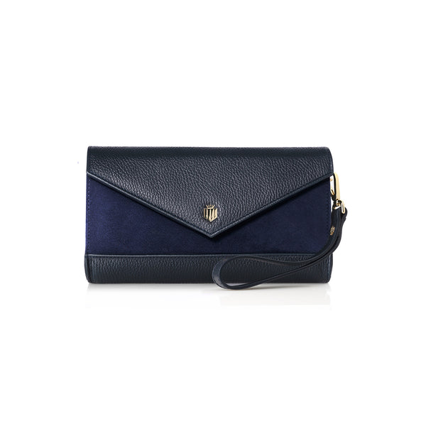The Foxley Clutch Bag - Navy - Race Day Ready - Fairfax & Favor