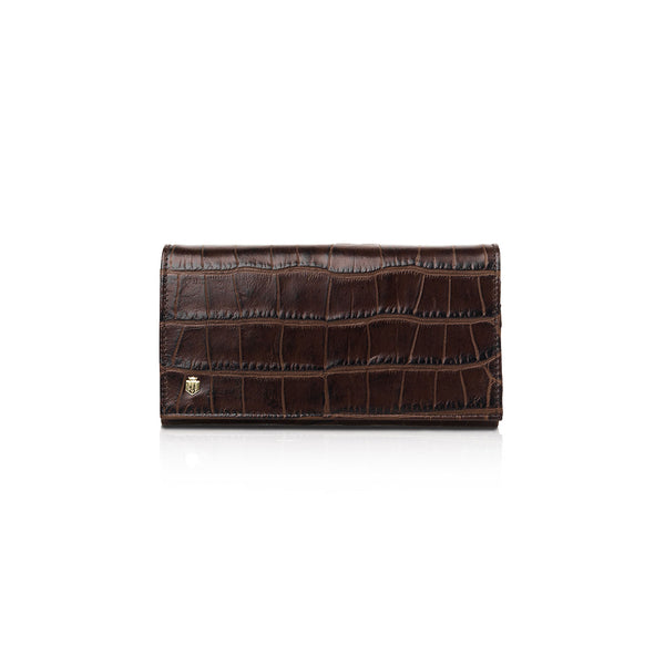 The Grosvenor - Chocolate Croc Print - Ladies Gifts £50 to £200 - Fairfax & Favor