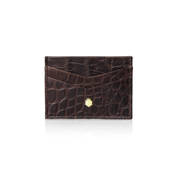 The Grenville - Croc Print Leather - Purses - Fairfax & Favor