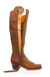The Heeled Regina (Tan) - Unlined-Suede Tassel Boots-FAIRFAX & FAVOR-FAIRFAX AND FAVOR