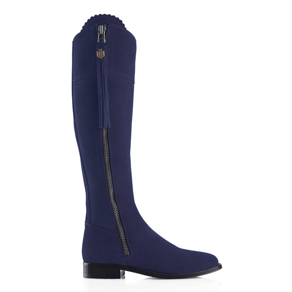 The Regina (Royal Blue) - Suede Boot - Ladies: A Day at the Races - Fairfax & Favor