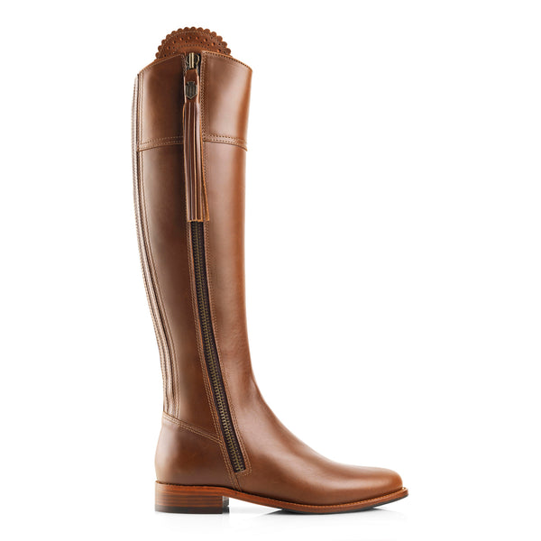 The Regina (Tan Leather) - Leather Boot - Race Day Ready - Fairfax & Favor