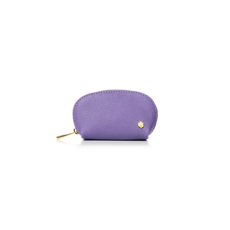 The Chatham Coin Purse - Lilac - Embossing - Fairfax & Favor