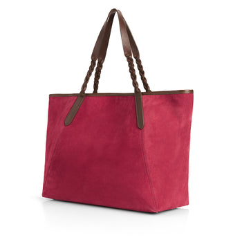 The Burford Tote - Raspberry