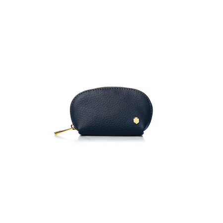 The Chatham Coin Purse - Navy - Embossing - Fairfax & Favor