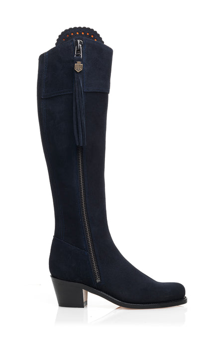 The Heeled Regina (Navy Blue) -  Unlined - Outlet - Fairfax & Favor
