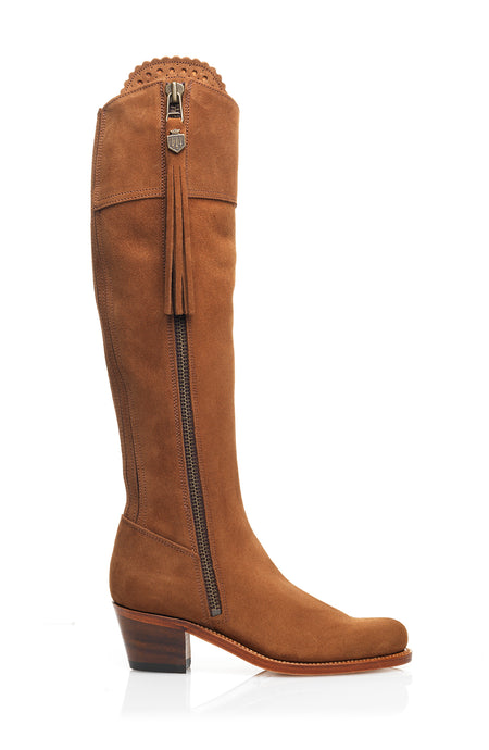 The Heeled Regina (Tan) - Unlined - Outlet - Fairfax & Favor