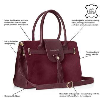 The Windsor Handbag Oxblood